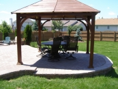 our landscape services include building gazebos and shade structures