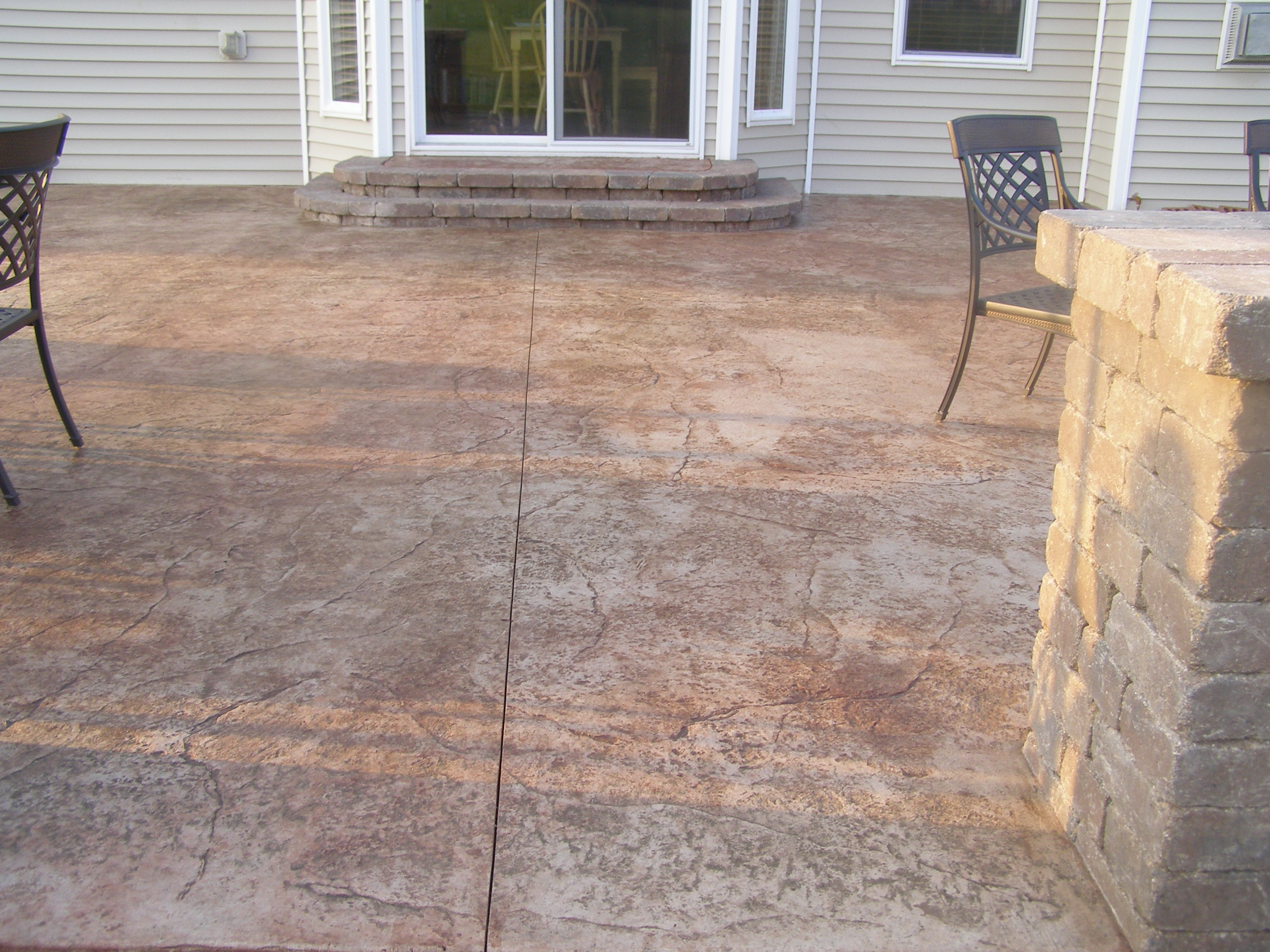 A great example of a Rockford stamped concrete patio.