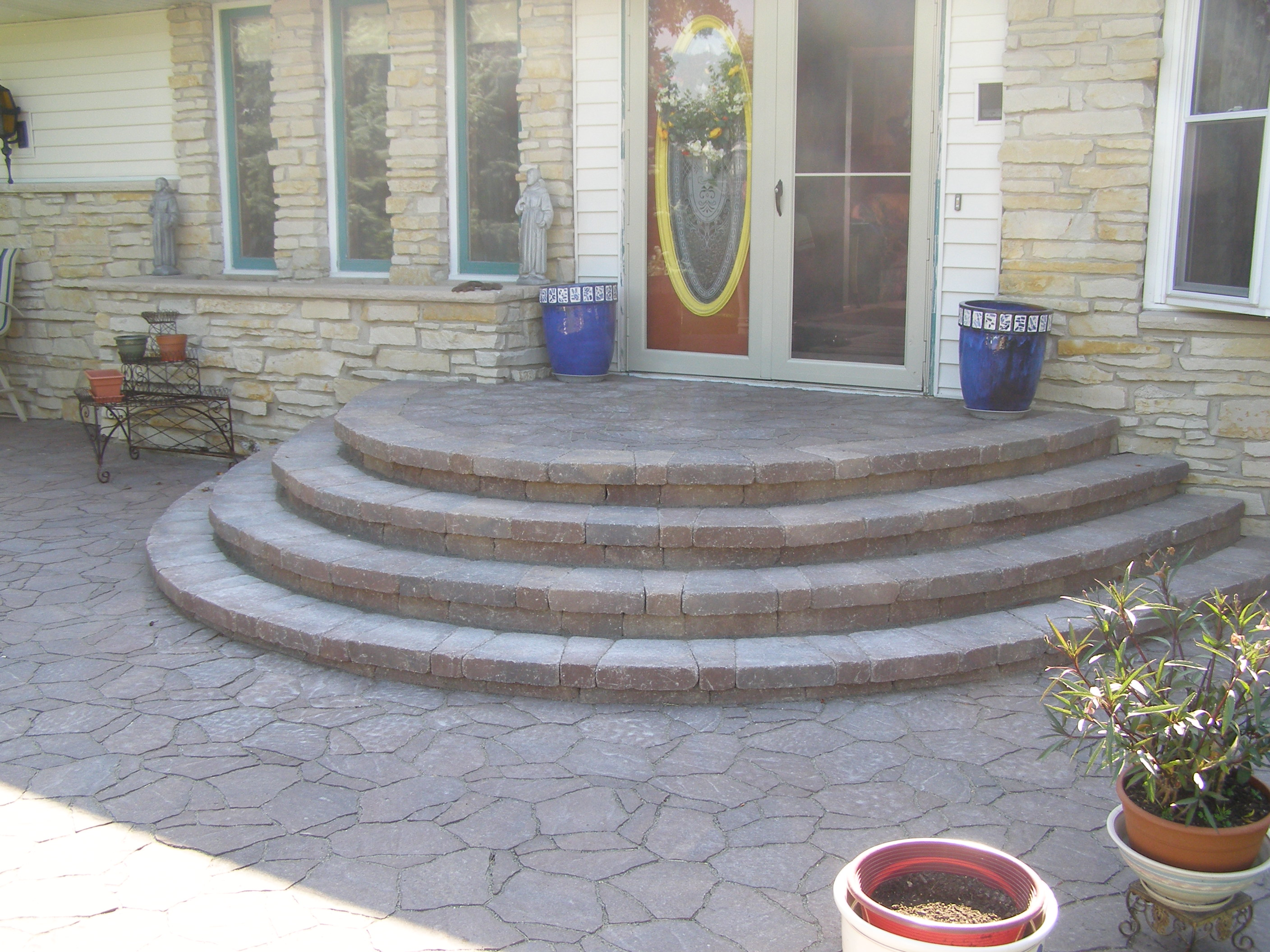Rockford Steps And Stoops Creative Concrete And Landscaping