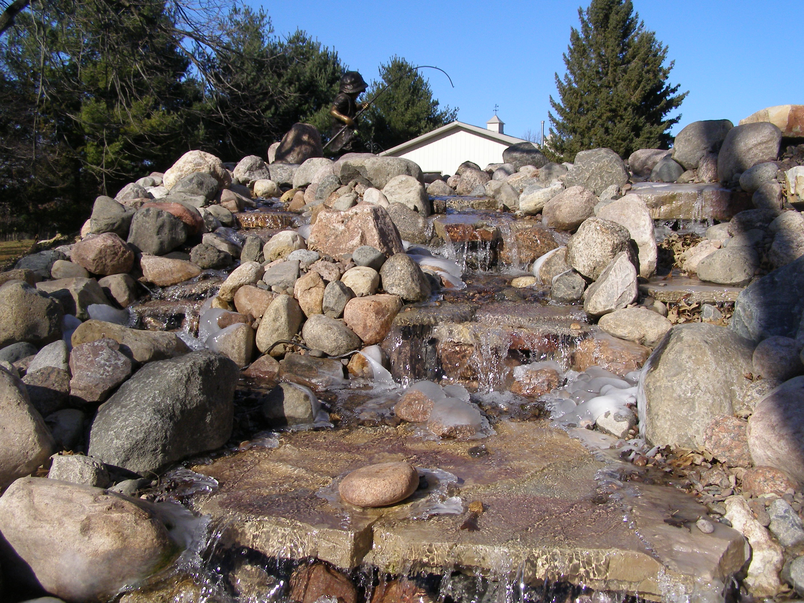 Rockford natural stone landscape feature