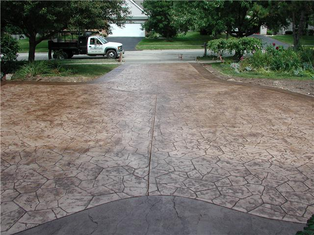 Rockford stamped concrete