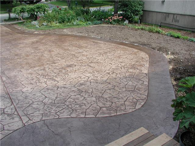 Rockford stamped concrete projects like this one have a great patterned appearance.