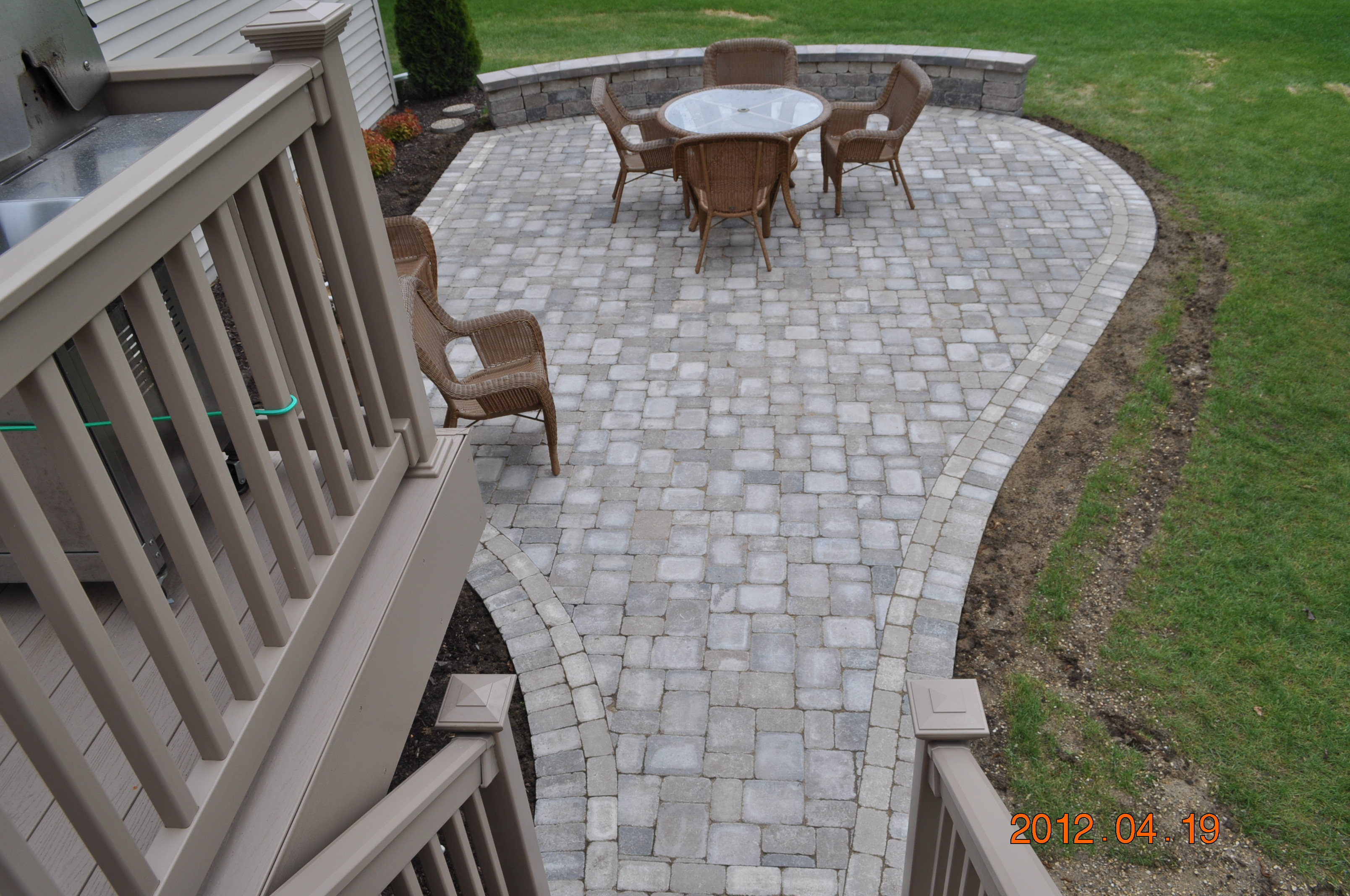 This Small, Circular Brick Paver Patio Is Made To Fit This Rockford Backyard .