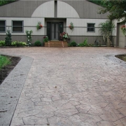 Rockford stamped concrete driveways like this one are attractive and durable.